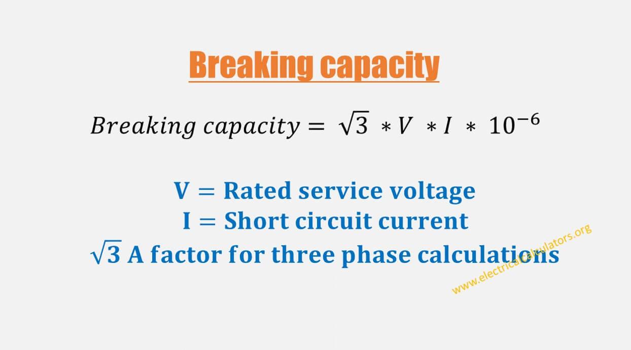 Circuit Breaker Breaking Capacity Calculator [With Formula